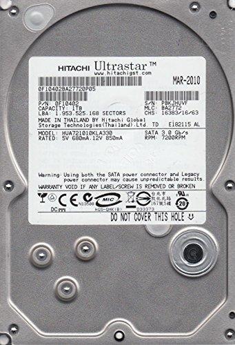 Preisvergleich Produktbild HUA721010KLA330,  PN 0F10402,  MLC BA2772,  Hitachi 1TB SATA 3.5 Festplatte