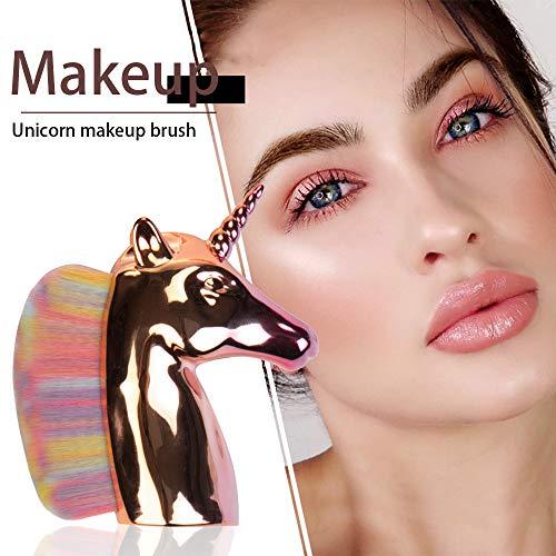 Beito 1 UNID Pincel de maquillaje Unicornio con cerdas de colores Cabeza...