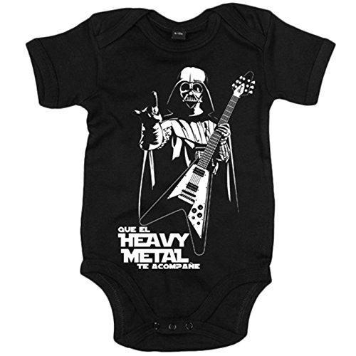 Body bebé Que el Heavy Metal te acompañe - Negro, 6-12 meses