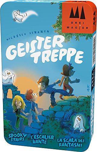 Hans im Glück Schmidt Spiele DREI Magier Spiele 51402 Geistertreppe, DREI Magier Reisespiel in der Metalldose, bunt