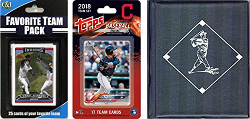 C&I Collectables MLB Cleveland Indians para hombre 2018Indianstscmlb Cleveland Indians licencia 2018 Topps Team Set & Favorite Player Trading Cards Plus Álbum de almacenamiento, marrón, N/A