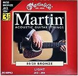 Martin M140PK3 - Juego de cuerdas para guitarra acústica de bronce.012-.054