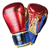 Metallic Leather Boxing Gloves for Men Women Kids, Muay Thai Kick Boxing Sparring Heavy Bag Workout MMA Pro Leather Gloves Mitts