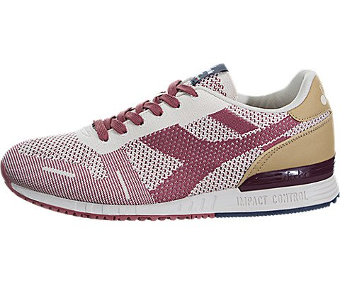 Diadora Mens Titan Weave Lace Up Sneakers Shoes Casual - Black,Off White,Red - Size 10 M