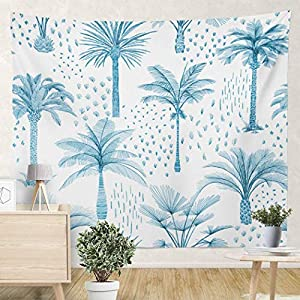 not branded Palm Tree Tropical Plants Trendy Exotic with Banana Tree Coconut 82.7 W X 59.1 H inch Wall Tapestries