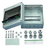 REV 0518433555 Kleinverteiler, Verteilerkasten 1-reihig 8TE, 400V, 110x182x180mm, grau