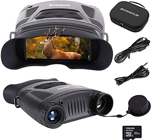 Visore Notturno Digitale Binoculare 3.5-7X Visore Notturno Caccia con 2' TFT LCD e 32GB TF Carta Foto Telecamera Video Registrator