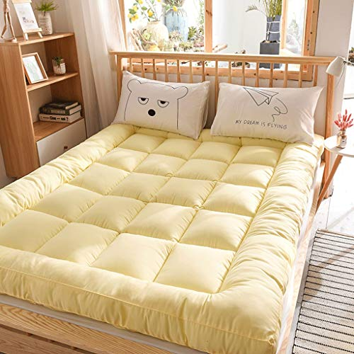 De estilo japonés de suelo Colchón Colchón de cama, engrosamiento 10CM tatami dormir cojín plegable Colchón enrollable Niño Niña compartida de la almohadilla del colchón Niños piso reclinable sofá y d