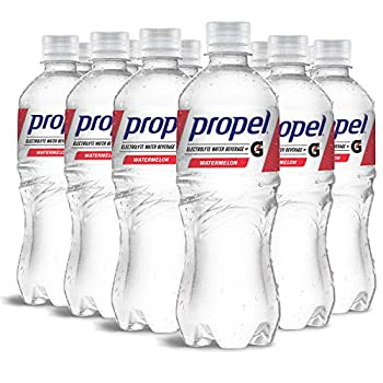 Propel Watermelon Zero Calorie Sports Drinking Water with Electrolytes and Vitamins C&E 16.9 Fl Oz  12 Count
