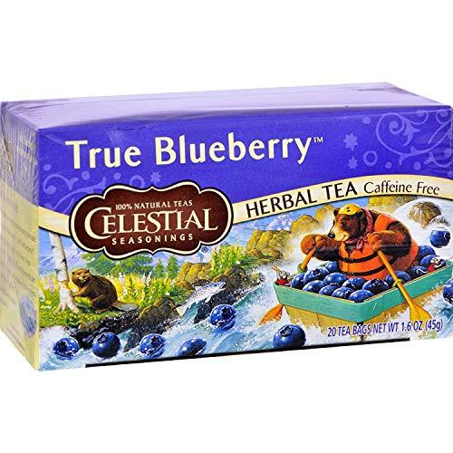 Celestial Seasonings Non-Caffeine Herbal Tea, True Blueberry 20 ea