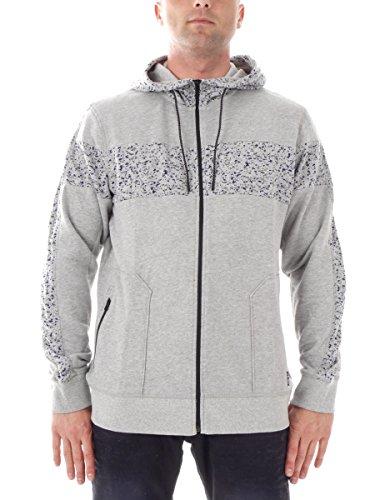 O'Neill Sweatjacke Freizeitjacke Hoodie GRAU Colorblock Zipper Taschen 653670 (L)