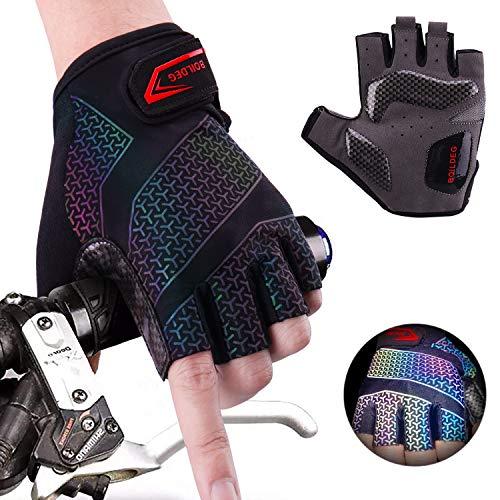 Rękawiczki rowerowe Gradient antypoślizgowe i amortyzujące uderzenia rękawice do rowerów górskich w kolorze sygnalizacyjnym, uniseks, męskie, damskie (pełne palce, rozmiar M)