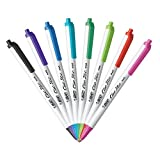 BIC Clic Stic Fashion Retractable Ballpoint Pen, Medium Point (1.0mm), Assorted Colors, 18-Count (CSMAP18)