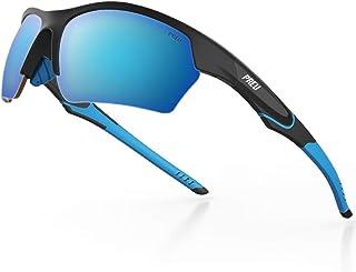 PREU Unisex Polarized Sport Sunglasses for Men Women...