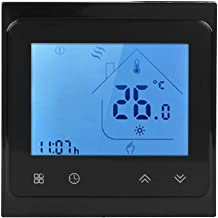 Smart Thermostat - 95‑240V AC WiFi Smart Voice Thermostat for Boiler Heating Use for Alexa LCD Touching Screen(Black)