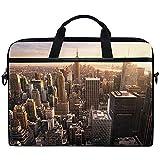 Custodia protettiva per laptop leggera con custodia regolabile per laptop New York City Skyline con cinturino regolabile 14 pollici