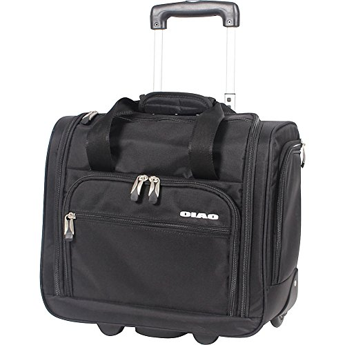 Ciao Underseat Luggage Collection - Small Lightweight 15 Inch Under Seat Bag - Briefcase for Men & Women - Carry On Suitcase with 2- Rolling Spinner Wheels (Black)
