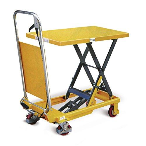 Protaurus Hubtischwagen, Traglast 150 kg, Hubhöhe 740 mm, Plattform 740x450 mm, gelb