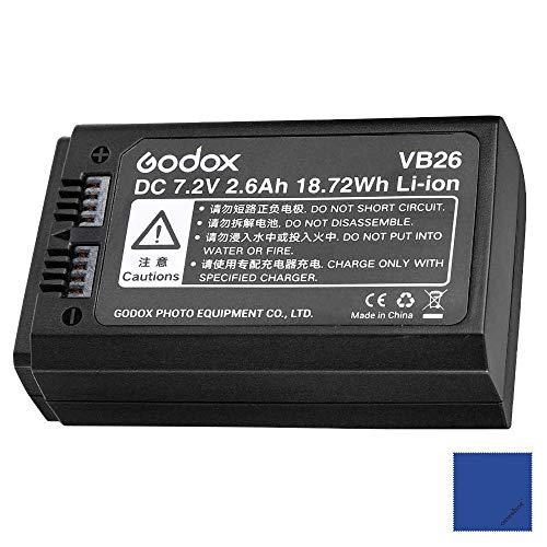Godox VB26 Batteria al litio 7,2 V 2600 mAh per Godox V1 C/N/S/F/O/P Flash