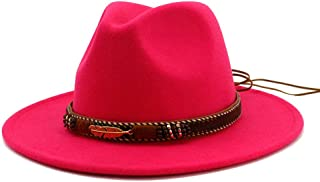 bb5948b0 Vim Tree Men Women Ethnic Felt Fedora Hat Wide Brim Panama Hats with Band