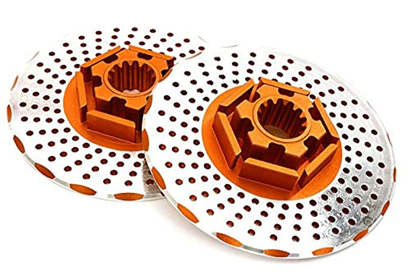 Integy RC Model Hop-ups C27962ORANGE Realistic Alloy Rear Brake Disc (2) for Traxxas X-Maxx 4X4 oxputbqs720988
