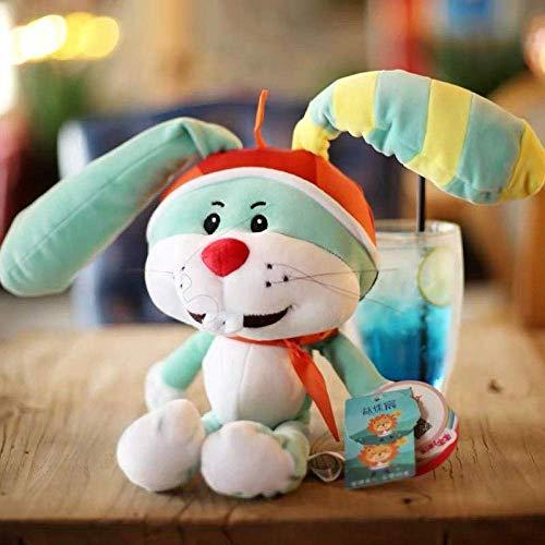 KECEE R Cartoon Anime TV Plüschtier Rainbow Rubin Thunderbell Kaninchen Choco Bear Ellie Hirsch Bürgermeister Ling Ling Elefant Weiche Stofftuche-35-40cm_thunderbell_ Shuanghao.
