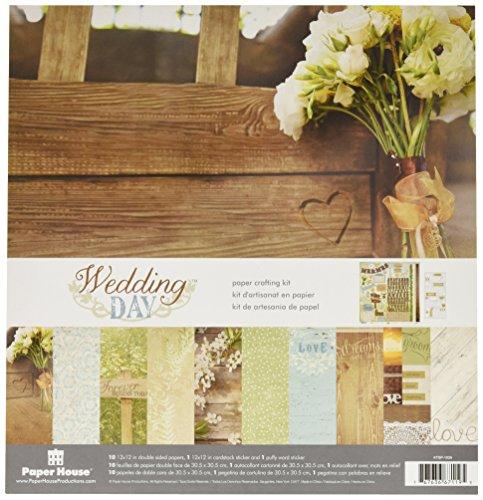 Papel Casa Kit de Manualidades de Papel (30,4x 12-Inch-Wedding Día