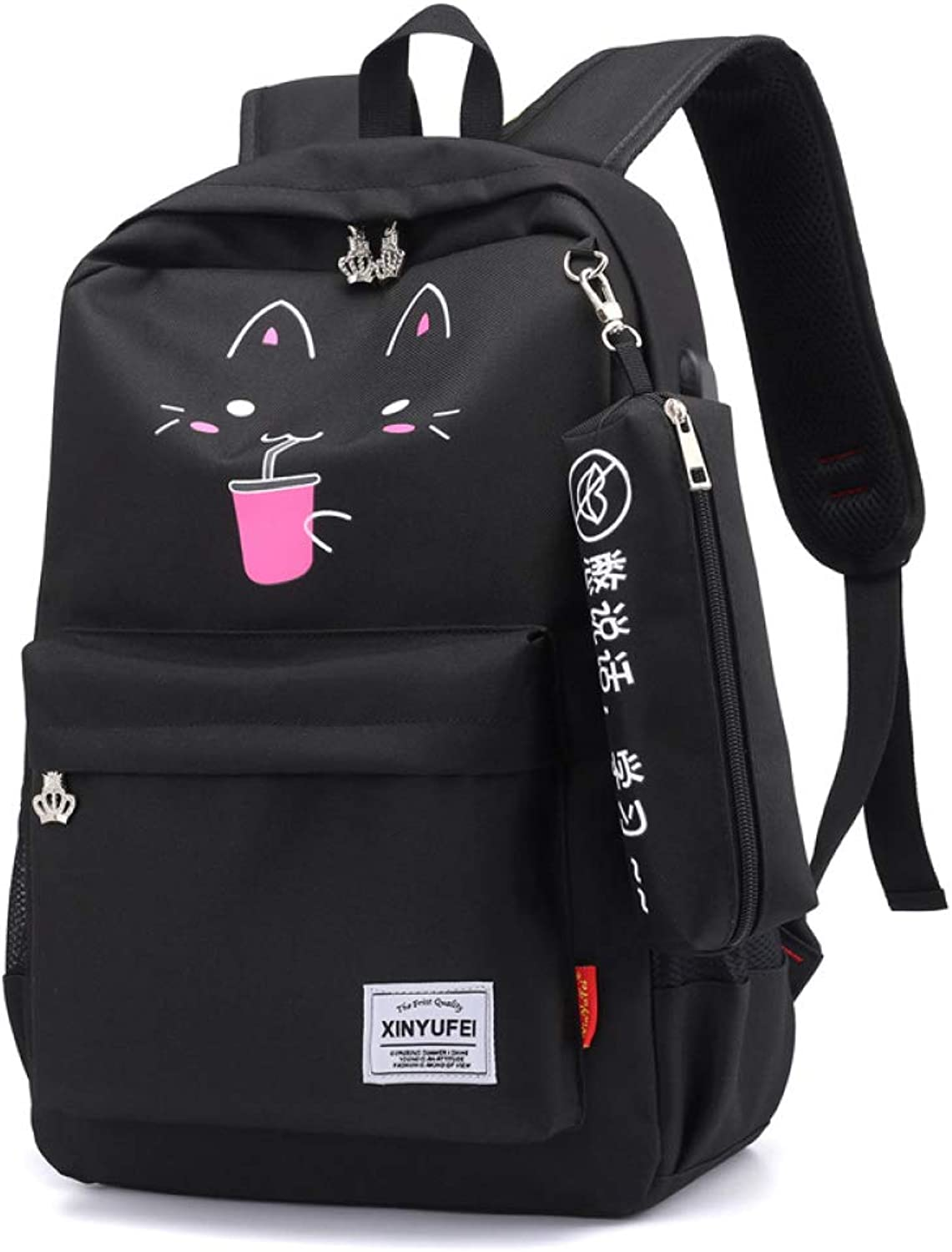 Quality Ladies and Girls Backpack,Campus Junior High School Student Bag,Oxford Textile Lightweight Large Capacity