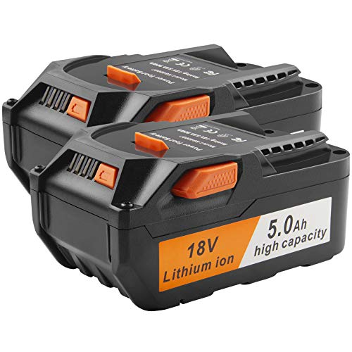 18V Lithium Ion Replacement Battery Compatible with for RIDGID R840083 R840085 R840086 R840087 R840089 AC840085 AC840086 AC840087P AC840089 Series Drill Battery (2 Pack)