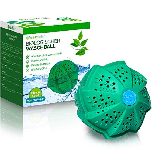 WASCHKLAR® Waschball [4-FACH REINIGUNG] - Saubere Wäsche OHNE Waschmittel - Waschkugel für Waschmaschine | Wäscheball zero waste Produkte