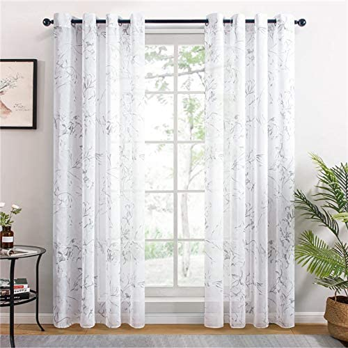 AFANGMQ Set Max Sacramento Mall 46% OFF of 2 Sheer Curtains Living Bedroom for Room Kitchen