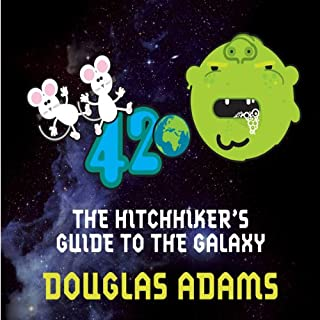 The Hitchhiker's Guide to the Galaxy audiobook cover art