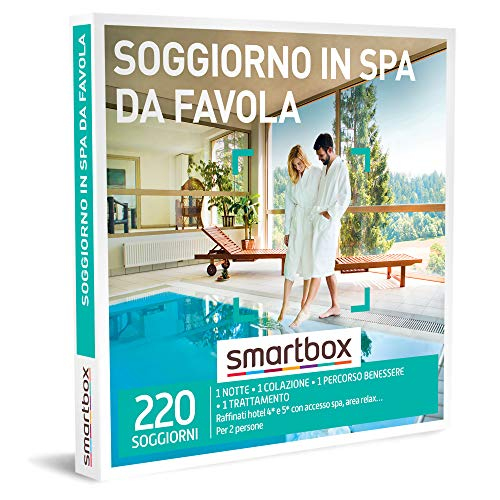 smartbox - Cofanetto Regalo - Soggiorno in Spa da Favola - Idee Regalo - 1 Notte con Colazione e 1 Esperienza Benessere per 2 Persone