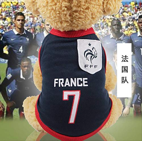 UD-strap NBA Jersey Dog Camicia Coppa del Mondo Cane Vestiti per Cani di Piccola Taglia Estate Chihuahua Tshirt Cucciolo Gilet Pet Clothes XS D