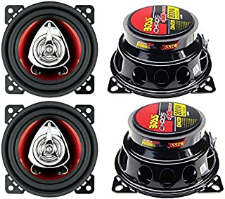 """BOSS CH4220 4"""" 2-Way 400W Car Audio Coaxial Speakers Stereo Red 4 Ohm photo"""