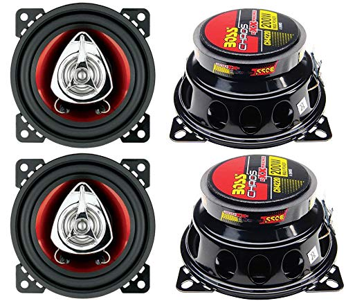 """BOSS CH4220 4"""" 2-Way 400W Car Audio Coaxial Speakers Stereo Red 4 Ohm"""
