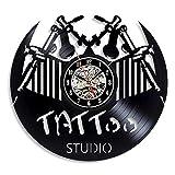 qweqweq Canto micrófono Rock Disco de Vinilo Reloj de Pared diseño Moderno Letrero de Pared decoración 3D Reloj de Vinilo Colgante de Pared Mesa decoración del hogar