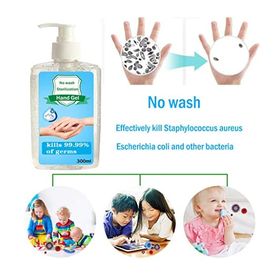 300ML Wash-Free Refreshing Hand Sanitizer Gel, Multipurpose Hand Soap Gel to 24-Hour Protection for Adults & Kids Kills 99.99% of Germs, Soft and Non-irritating 5 <p>❤️ PROTECT AGAINST BACTERIA: The hand cleaner is an Non-irritating Refreshing Hand Gel Hand Sanitizer that kills dirty stuff on contact! This clearner formula stops the spread of dirty stuff to keep your family safe. Safe for babies. ❤️ MOISTURIZING HAND CLEANER: Soft and non-irritating, does not harm the skin, has a water retention and hydration function ❤️ FOR THE FAMILY: Pass on the Dial heritage to the hands you care about most. Formulated to be gentle on skin, even on the smallest hands. ❤️ KILLS 99% OF DIRTY STUFF: Kills 99.99% of Bacteria* (*Bacteria encountered in household settings).This hand sanitizer is the perfect solution for hand hygiene at home, the office, medical facilities or while you travel. It stops the transition of dirty stuff and cleanses your skin. ❤️❤️ We truly want you to be happy with our items and our professional customer service will do whatever it takes to ensure your satisfaction. If you are not fully happy with the Sunshinehomely products, please feel free to contact us, Our customer representatives will respond you within 24 hours.</p>