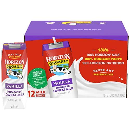 Horizon Organic Shelf-Stable 1% Lowfat Milk Boxes, Vanilla, 8 oz., 12 Pack