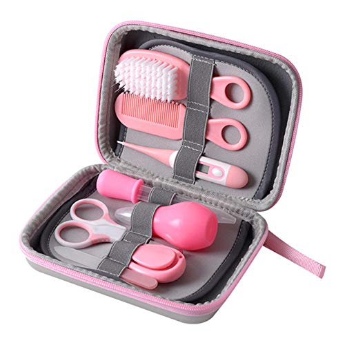 Asdomo Portable Baby Health Care Kit, Baby Nail Care Baby Manicure Kit Baby Grooming Kit with Comb Hair Brush for Newborn, Infant, Toddler
