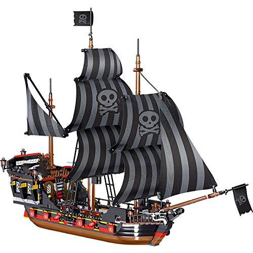 Rawikan 1334 piezas pirata Modelo Bloque de Construcción Creador Barco Película Ladrillo Bricolaje Juguete Niños Regalo para Niños (Compatible con Lego) 987pcswithoutbox