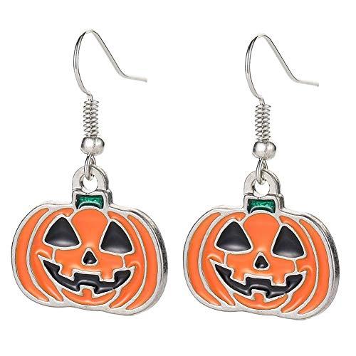 KFYU Horror Halloween Calabaza Naranja Pendientes Combinados Fantasma Naranja Calabaza Monstruos