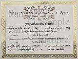 Baptism Certificate with Elegant Border - 6 Pack - Serpentine 44407
