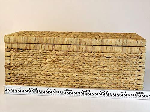 Artra Design Geflecht Truhe 'Linus' mit Klappdeckel 80 cm, Natur BSCI atmungsaktiv Aufbewahrungsbox mit Deckel Aufbewahrungskiste Aufbewahrungstruhe - 5