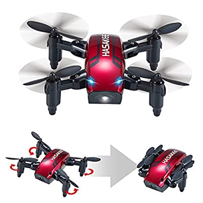 H6 Foldable RC Mini Drone with Altitude Hold and Headless Mode 2.4GHz 6-Axis Gyro Pocket Quadcopter with One-Button 360° Flip and 10 MINUTES Flying Time,Fun Gift for Kids