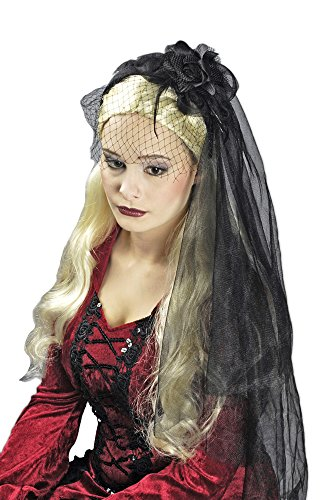 Widow's Veil - Black Bridal Veil For Widows, Witches or Gothic Costume