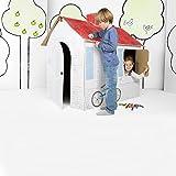 GUIZMAX Grande Maison en Carton, a Construire Peindre décorer colorier...
