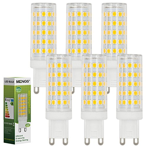 MENGS® 6 pezzi G9 10 W lampadina a led 64 X 2835 SMD AC 220 - 240 V Bianco freddo 6500 K con materiale pc