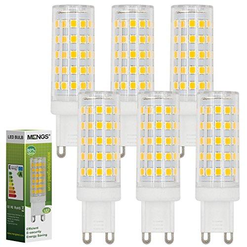 MENGS® 6pezzi G910W lampadina a led 64X 2835SMD AC 220-240V Bianco freddo 6500K con materiale pc
