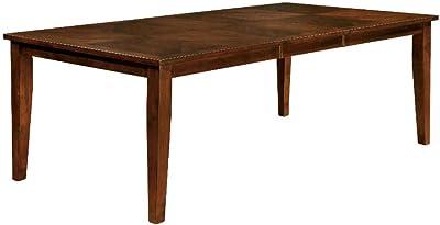Benjara Benzara Transitional Dining Table, Brown